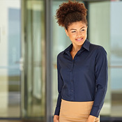 Lady-fit Oxford long sleeve shirt