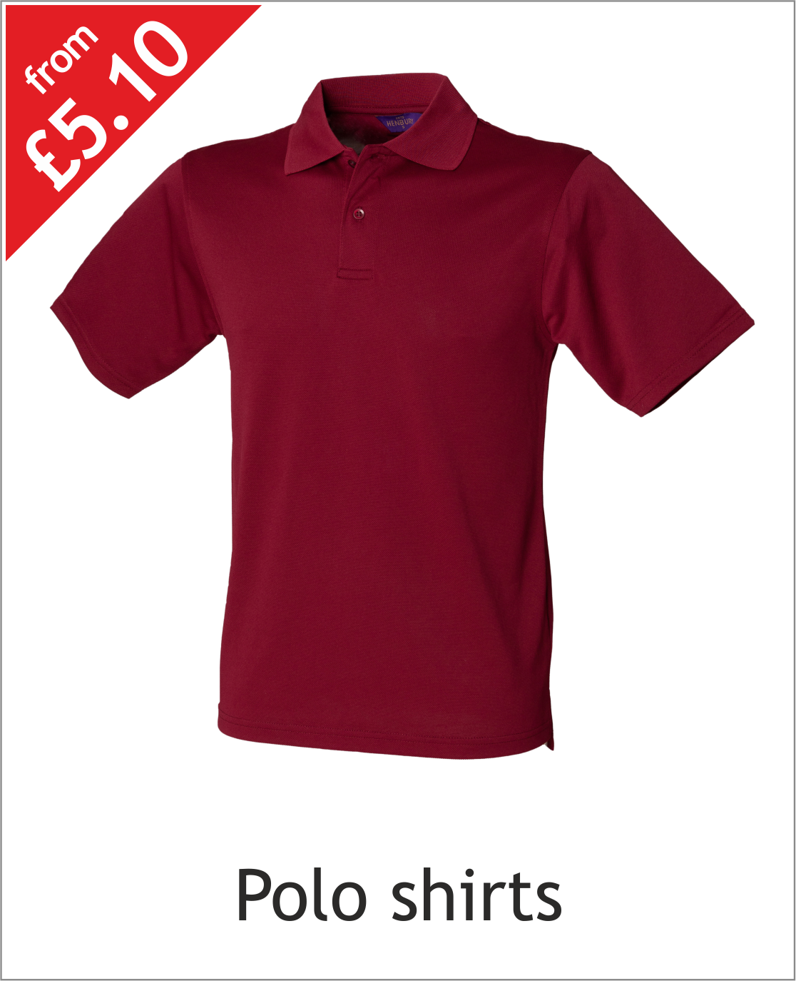 Embroidered & Printed polo shirt catagory