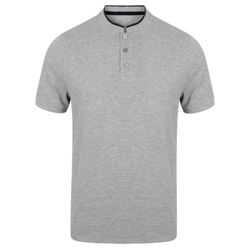 Stand collar stretch polo shirt Thumbnail