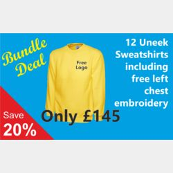12 Embroidered Classic Sweatshirt Bundle Deal Thumbnail