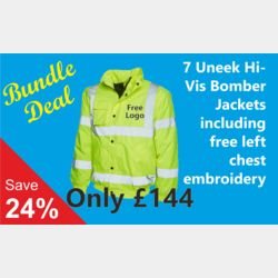 7 Embroidered High Visibility Bomber Jacket Bundle Deal Thumbnail